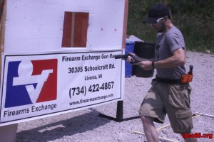 shooter performs a running reload